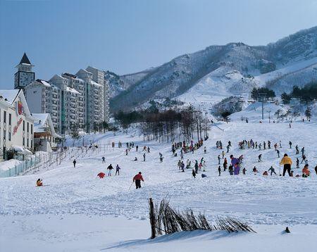 Ski Resort 版權商用圖片