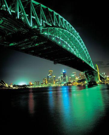 Bridge with Lights Stock Photo
