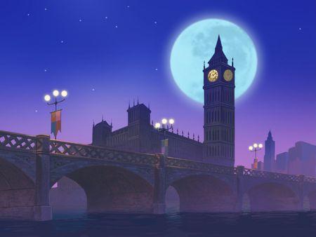 Big Ben at Night 版權商用圖片 - 377319