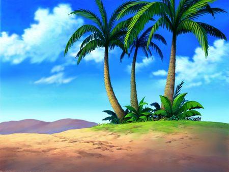 Palmeras en el desierto Foto de archivo - 377323