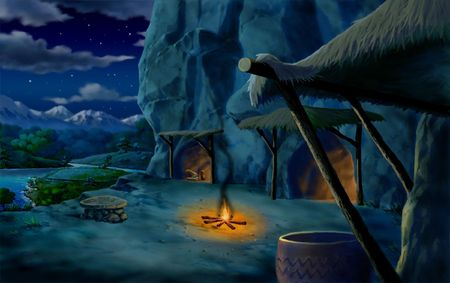night table: Cave Home at Night