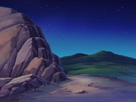 rugged: Rugged Hill at Night