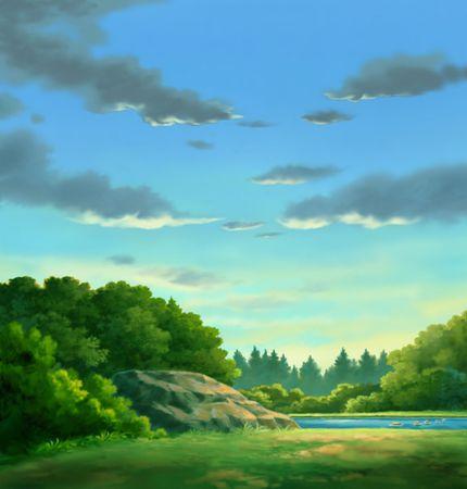 Rocks in Forest 版權商用圖片