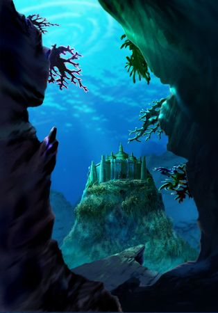 Underwater Castle Stockfoto - 376984