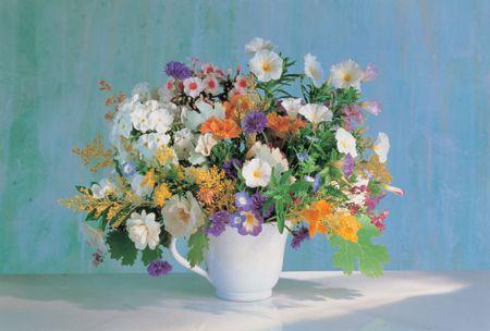 Flowers and Cup Banco de Imagens
