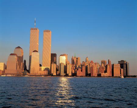Twin Towers at Dusk 版權商用圖片 - 397708