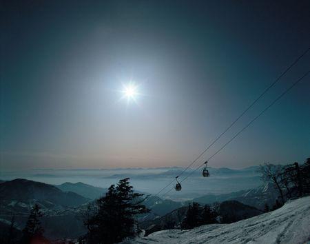 Snow Mountain Ski Stock Photo - 415616
