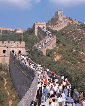 China Wall and People 版權商用圖片 - 461444