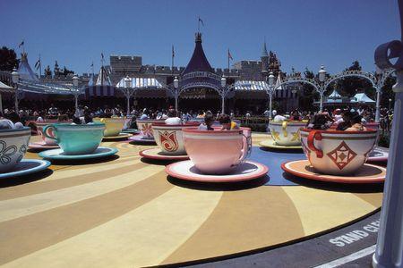 Theme Park Ride Cup Stockfoto