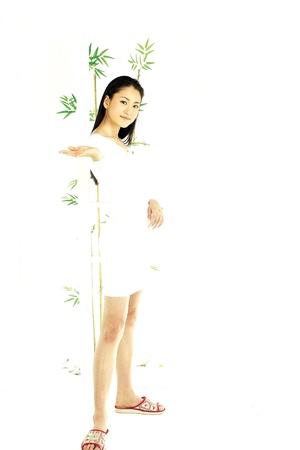 lady slipper: Portrait of a Korean Woman