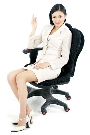 korean ethnicity: Portrait of a Korean Businesswoman Stock Photo