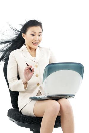 Portrait of a Korean Businesswoman Stock Photo