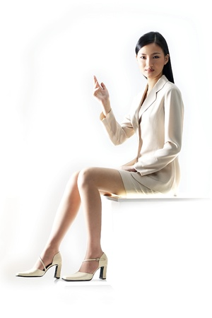 Portrait of a Korean Businesswoman Stockfoto