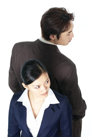 Korean Businessman and Businesswoman