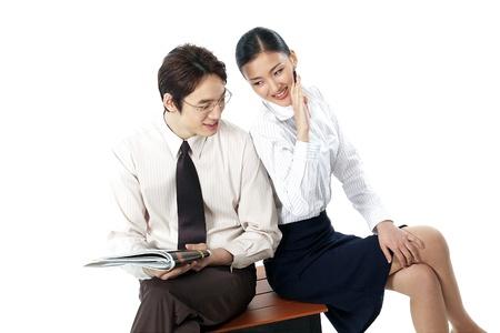 Korean Businessman and Businesswoman photo