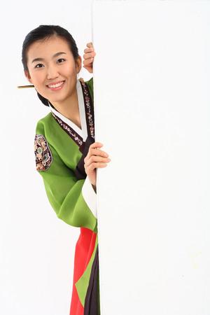 Woman in Korean Dress
