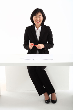 front desk: Woman in Business IV Stock Photo