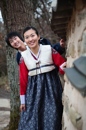 Couple in Korean Dress II