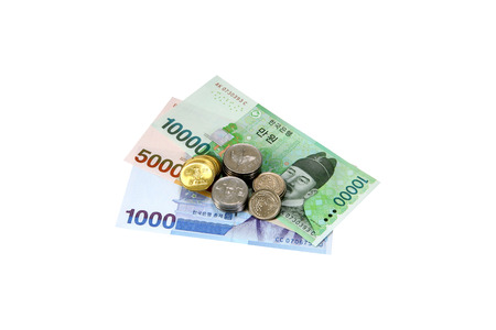 Paper Currency and coin Stock Photo