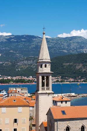 Clock tower in old city of Budva, Montenegro photo