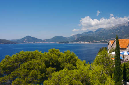 Panorama of Budvanska Riviera, Montenegro photo