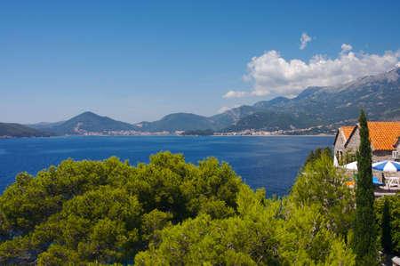 Panorama of Budvanska Riviera, Montenegro photo