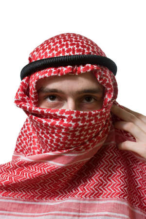 Portrait of an arabian young man in traditional headscarf  Stock Photo - 3274457