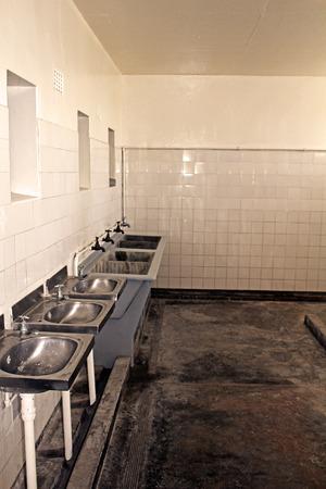 Washroom Nelson Mandela Prison, Robben Island, Cape Town, South Africa