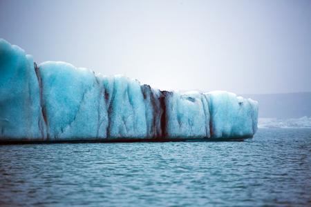 Blue glacier ice floe in the glacier lake at Jokullsarlon, Iceland Stockfoto