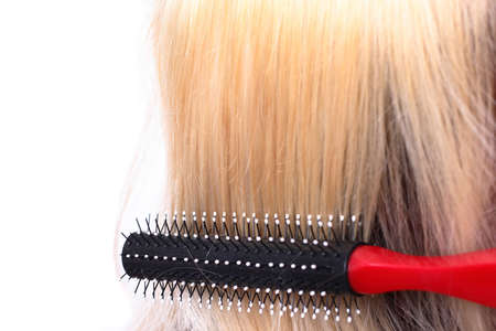 comb and hair close-up Stock Photo