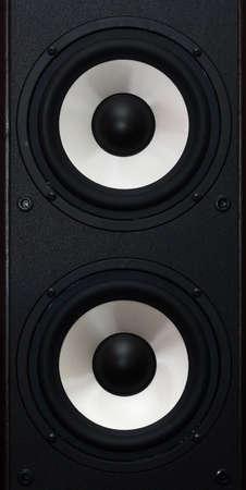 two audio speakers Stock Photo