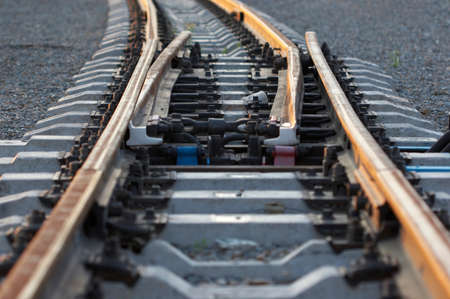 going nowhere: railway lines lead in nowhere