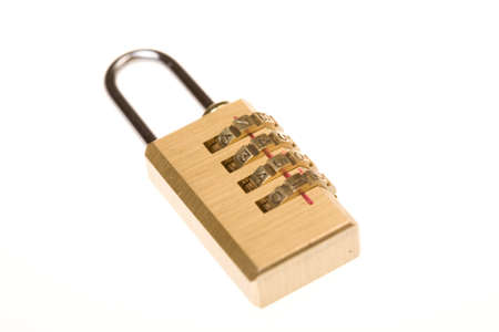 shiny gold coding lock Stock Photo - 8838647