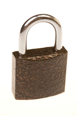 black metal padlock Stock Photo - 8838671