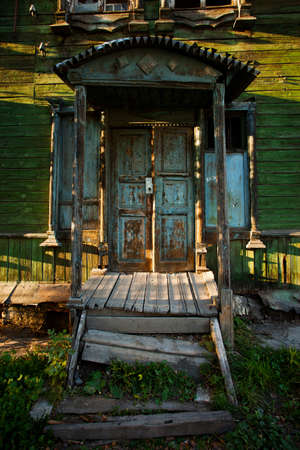abandon: abandon porch in old wooden house