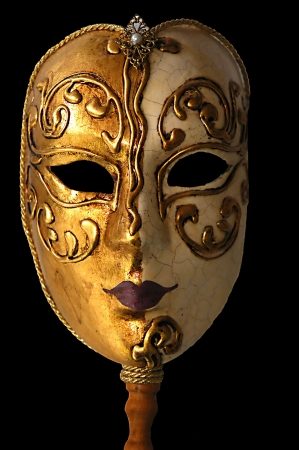 carnivale: Venetian mask from Venice, Italy Stock Photo