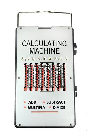 m�quina: 1960 vintage calculating machine Foto de archivo