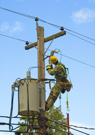 lineman: lineman works on electricity