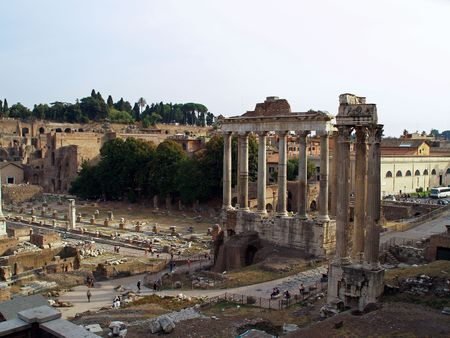 The ruins of the Forum Romanum, Roma, Italy photo