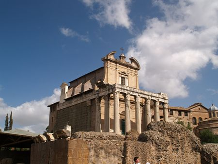 The ruins of the Forum Romanum, Roma, Italy photo