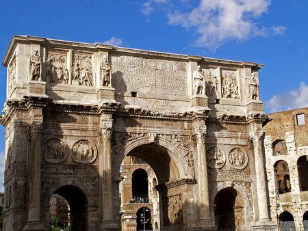 The ruins of the Forum Romanum, Roma, Italy 版權商用圖片 - 4311875