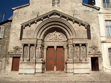 Arles - The Church of St. Trophime 版權商用圖片