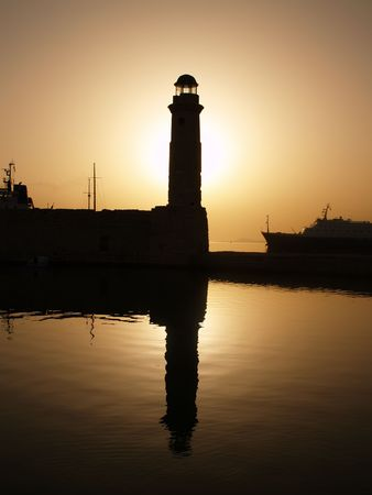 Rethymnon - lighthouse Stock Photo - 4961101