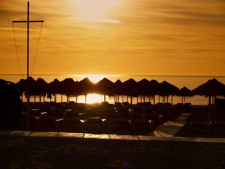 nebulosity: Torremolinos - Costa del Sol         Stock Photo