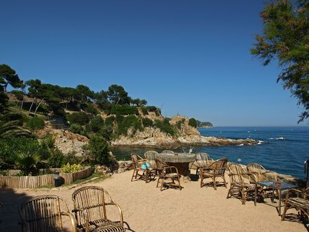 Landscape coastline near Lloret de Mar        Stock Photo - 5055072