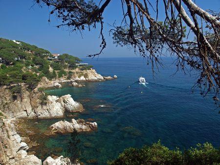 trave:  Landscape coastline near Lloret de Mar