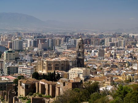 incarnation:  Panoramic viev of Malaga           Stock Photo