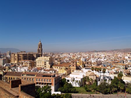 Panoramic viev of Malaga