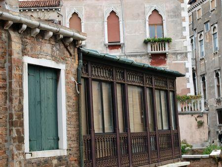 lido:   Old venetian buildings - Venice Italy