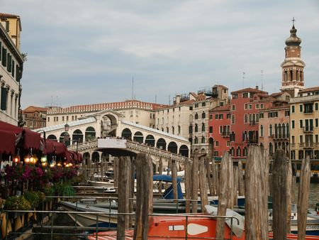 rialto bridge:  Venice - Canal Grande and Rialto bridge